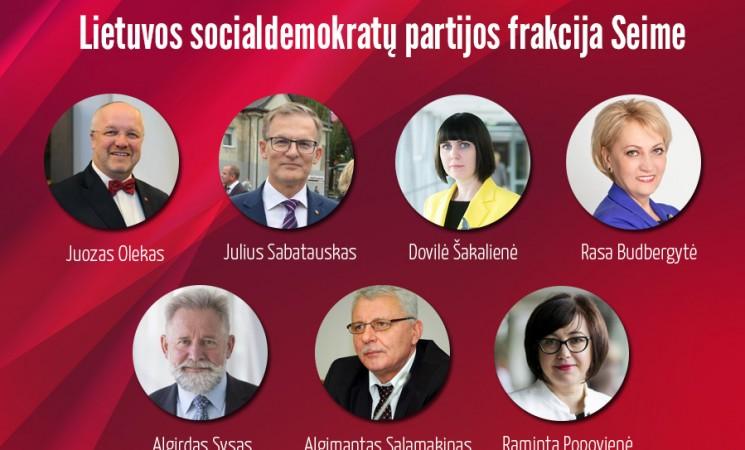 Lietuvos socialdemokratų partijos frakcija pasiskelbė opozicine