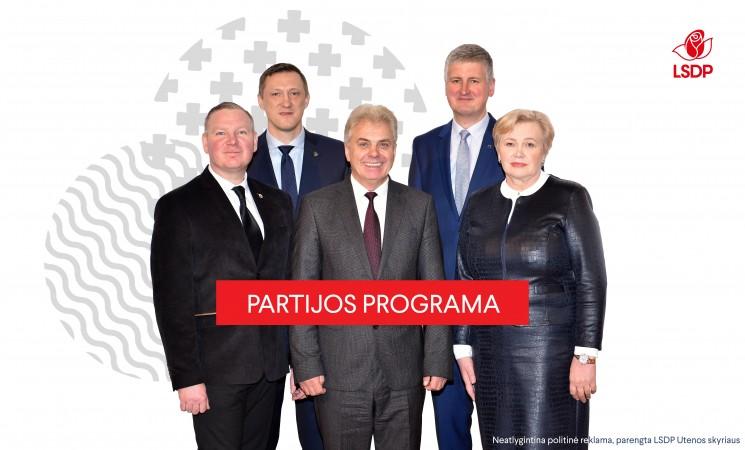 LSDP Utenos rajono skyriaus rinkimų programa